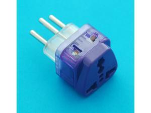 Universal Travel Adapter UK USA EURO AUS to Swiss Switzerland AC Power Plug with Dual Receptacles