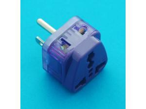 Universal Travel Adapter EURO UK AUS USA to USA Canada Taiwan AC Power Plug with Dual Ports