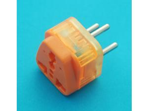 USA UK AUS EURO to Israel Round Pin Universal Travel Adapter AC Power Plug with Lightning Surge Protection