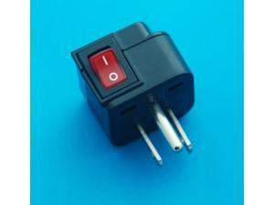 Canada USA Japan Taiwan Grounded 3 Pins Universal Travel Adapter Converter AC Power Plug with Switch