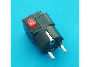 Germany France South Korea Schuko Type Universal Travel Adapter AC Power Plug with Switch