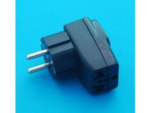 USA UK EURO AUS to Germany France South Korea Universal Travel Adapter AC Power Plug with Multiple Receptacles