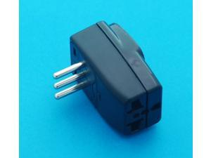 USA UK EURO AUS to Italy Grounded Universal Travel Adapter AC Powr Plug with Multiple Receptacles