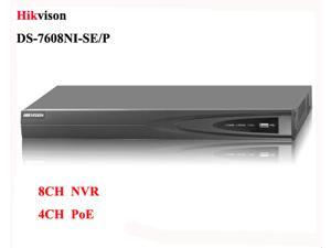 Hikvision NVR 8CH DS-7608NI-SE/P Network Video with 4 independent PoE network interfaces.Up to 5 MP PoE English Version