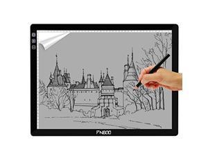 PNBOO PA3 24'' (Diagonal Length) Ultra Thin(7mm) Tracing Light Box with 10 PCS A3 Sheets and 1 Drawing Glove