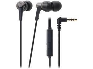 AUDIO TECHNICA ATH-CKR3ISBK SonicPro(R) ATH-CKR3IS Earbuds with Microphone (Black)