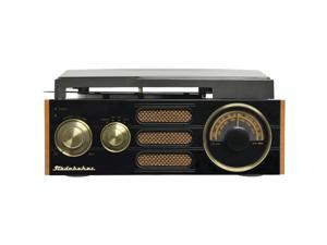 STUDEBAKER SB6055 3-Speed Stereo Turntable with AM/FM Stereo Radio