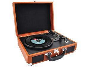 PYLE PVTTBT6BR Bluetooth(R) Classic Vinyl Record Player Turntable with Vinyl-to-MP3 Recording