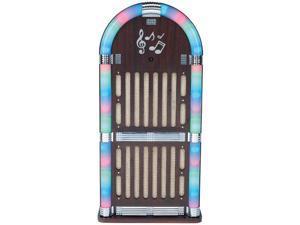 SYLVANIA SRCD806 Classic Wooden Jukebox AM/FM Radio with Bluetooth(R)