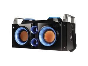 QFX PBX-505200BT BLUE Rechargeable Bluetooth(R) Party PA Boombox (Blue)