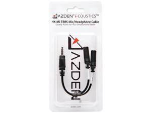 AZDEN HX-Mi i-Coustics(TM) HX-Mi TRRS Microphone/Headphone Interface Cable for Smartphones & Tablets