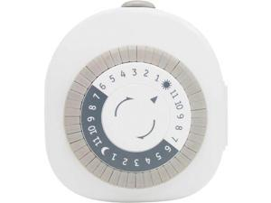 GE 15152 24-Hour Round, Polarized Mechanical 1-Outlet Timer
