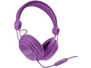 DREAMGEAR DGHP-5540 HM-310 Kid-Friendly Headphones with Microphone (Purple)