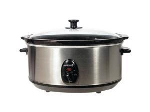 BRENTWOOD SLOW COOKER STAINLESS 7QT