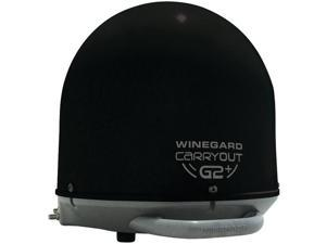 WINEGARD GM-6035 Carryout(R) G2+ Automatic Portable Satellite TV Antenna with Power Inserter (Black)