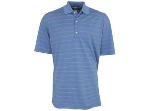 Greg Norman Pique Striped Polo Golf Shirt