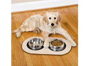 Pet Bowl Microfiber Non Skid Mat - Brown