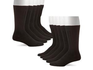 5 Pairs: John Weitz Men's Platinum Collection Black Dress Socks