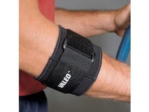 Valeo Black Terry-Lined Vented Neoprene Tennis Elbow Support