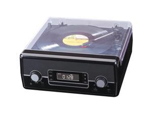 SYLVANIA SRCD875-BLACK CD Radio Turntable with Direct Encoding (Black)