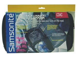 SAMSONITE- NYLON CD AUTO CARRIER - SECURLEY HOLDS AND ORGANIZES CD PLAYER, POWER CORDS, ACCESSORIES