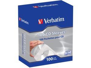 Verbatim(R) 49976 CD/DVD Paper Sleeves with Clear Window, 100 pk