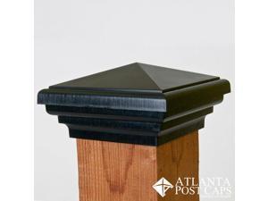 4x4 Post Cap (Nominal) – Black Pyramid Top – 10 Year Warranty