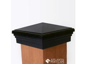 "6x6 Post Cap (True 6"") – Black Pyramid Top – 10 Year Warranty"