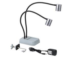 Pro Work Bench Light With Dual 120 Lumen Cree LED Head - Fly Tying FTL200