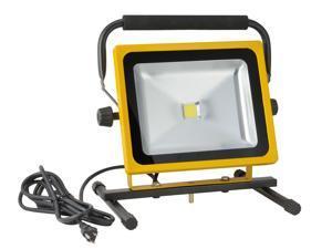 Portable Flood Work Light 50 Watt LED's 3500 Lumen Output 6300K IP54 LF50