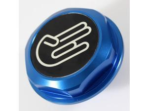 Blue Fuel Filler Tank Cap Engine Oil Cover JDM Racing Emblem Lexus Toyota Scion