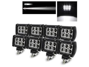 "Modify Street 8 x 4"" 18W 6 High Power CREE LED Spot Pattern Off Road Roof Light Bar Fog/Work/Driving Lamp"