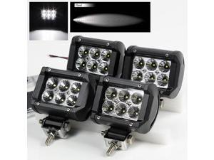 "4 x 4"" 18W 6 High Power CREE LED Flood Pattern Off Road Roof Light Bar Fog/Work/Driving Lamp"