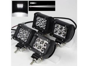"4 x 4"" 18W 6 High Power CREE LED Spot Pattern Off Road Roof Light Bar Fog/Work/Driving Lamp"