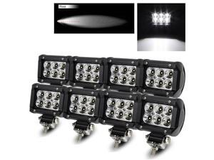 "Modify Street  8 x 4"" 18W 6 High Power CREE LED Flood Pattern Off Road Roof Light Bar Fog/Work/Driving Lamp"