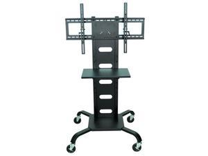 Luxor WPSMS51 Mobile Flat Panel TV Cart/Movable Stand - Black