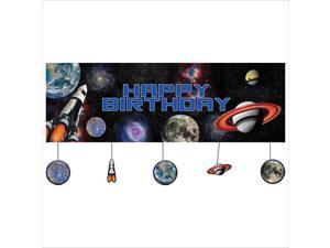 Space Blast Giant Party Banner with Attchment 6 Ct