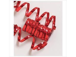 Holographic Serpentine Streamers Red 6 Ct