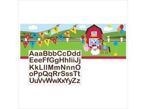 Farmhouse Fun Giant Party Banner with Stickers 6 Ct