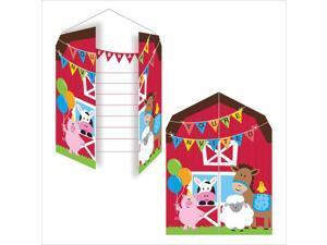 invitations Diecut Gatefold Farmhouse Fun 48 Ct