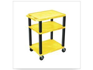 Yellow 18D x 24W x 34H Tuffy Cart with Electric and Black Leg