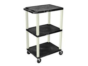 Black 18D x 24W x 42H Tuffy Cart with Black Leg