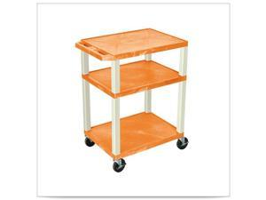 Orange 18D x 24W x 34H Tuffy Cart with Electric and Putty Leg