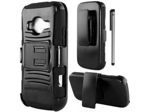 For ZTE Concord 2 II Z730 Robotic Armor Design Belt Clip Holster Kickstand Phone Protector Cover Case Accessory with Stylus Pen