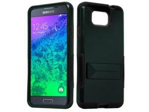 for Samsung Galaxy Alpha G850 Hybrid Infuse Stand Cover Case. Black