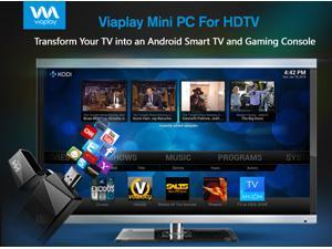 Viaplay Via-TV T1 Android Mini PC Smart TV Stick Dongle Box Dual Core Cortex - KODI(XBMC) 16.1 JARVIS Fully Loaded