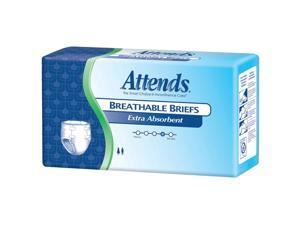Attends BRBX20 Extra Absorbent Breathable Briefs-Medium-96/Case