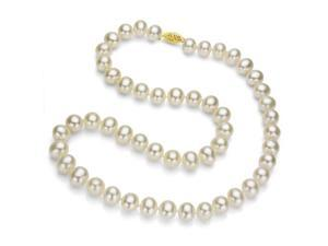 """18k Yellow Gold 11-12mm White Freshwater Pearl Necklace 18"""" Length. Includes ..."""