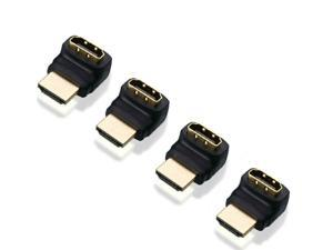 Hdmi Cable Adapters KIT Hdmi 270 Degree Male to Female Angle Adapters 4pcs Pack US Stock