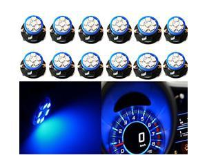 Black Twist Lock Wedge Instrument Panel Dash Light Base Plug-in Bulb Sockets Wireless Lamp Holders for T10/194/168(t3-1/4) Type Miniature Wedge Base Bulbs + Blue T10 168 Led Dash Bulbs(US Stock)